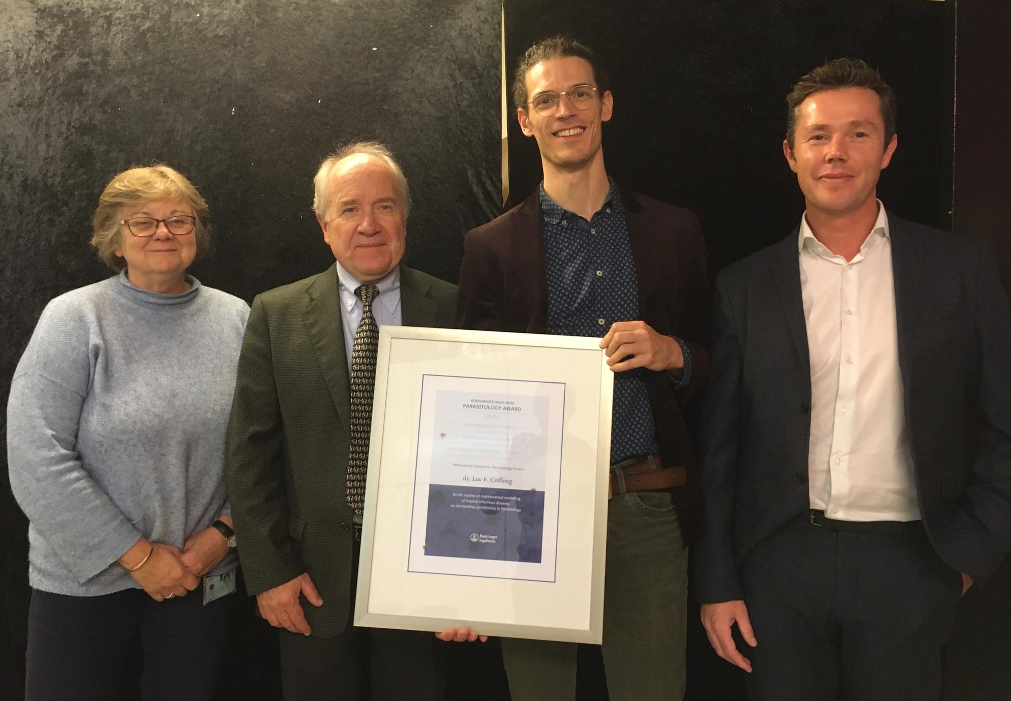 Boehringer-Ingelheim Parasitologie prijs 2019 voor Luc Coffeng